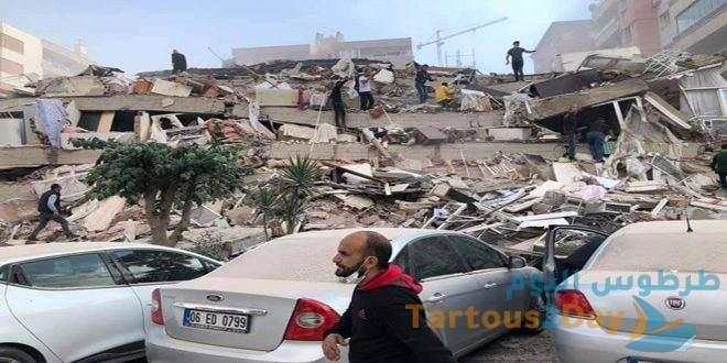 زلزال يضرب تركيا قبالة الساحل التركي بقوة 6.6