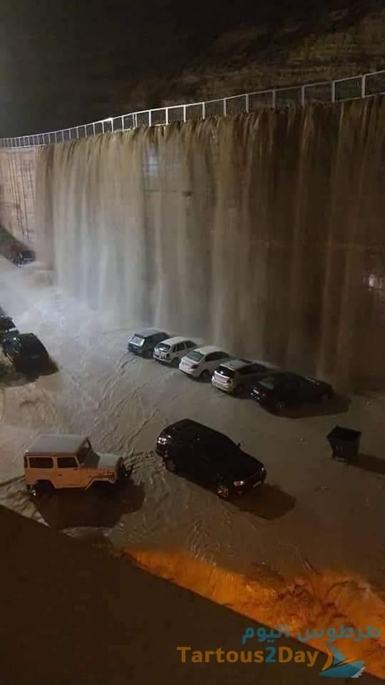 طقس سورية سيول وفيضانات وخسائر مادية نتيجة المنخفض (صور)