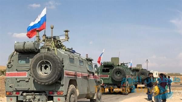 الدفاع الروسية تُرسل تعزيزات عسكرية الى عين عيسى