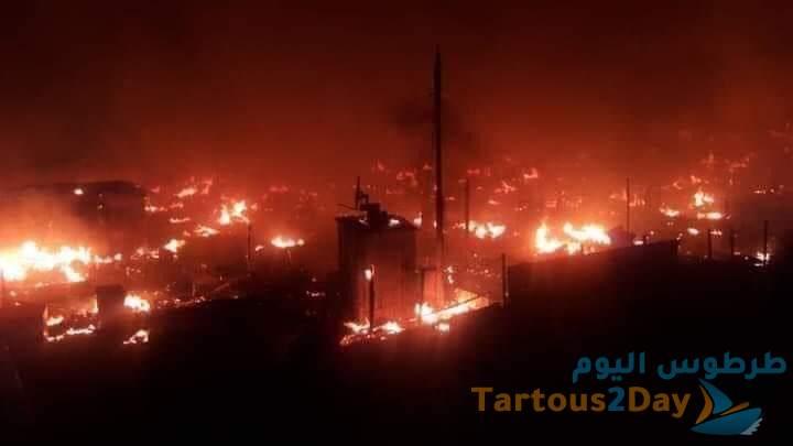 حرق خيام مهجرين سوريين في المنية شمال لبنان (فيديو)