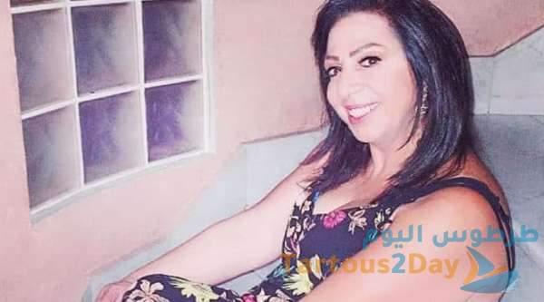 الفنانة غادة بشور في المستشفى بعد تعرضها لأزمة قلبية في لبنان .