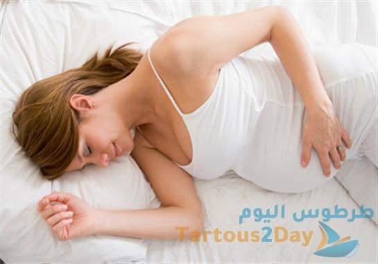 دراسة حديثة تحذر من خطورة النوم على الظهر أثناء الحمل .