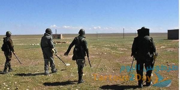الجيش السوري البادية الشرقية نزع الألغام