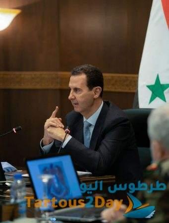 سورية : أول ظهور للرئيس الأسد منذ إعلان إصابته بفيروس كورونا (صور)