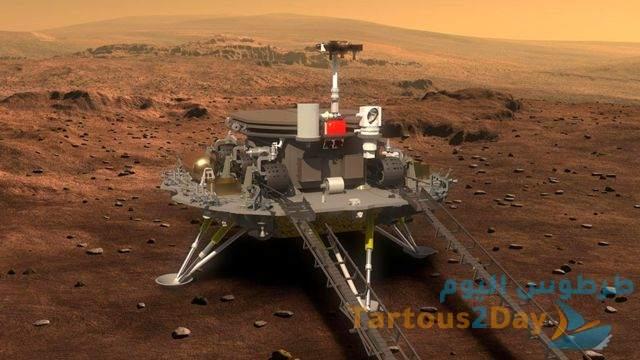 الصين تنجح في انزال روبوت تشورونغ على سطح المريخ .