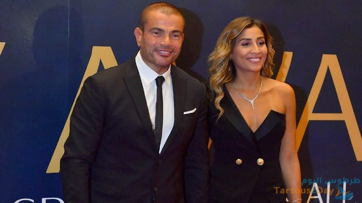 حقيقة تواجد عمرو دياب و دينا الشربيني معا من جديد بملابس جريئة