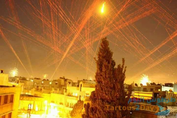 اطلاق رصاص و اصابات ليلة الاعلان عن نتائج الانتخابات الرئاسية السورية 2021 .