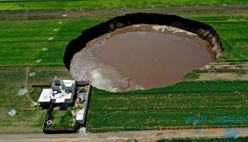 الحفرة الغامضة في المكسيك تزداد اتساع .