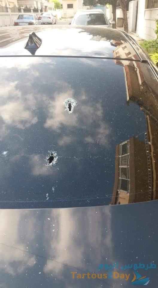 هجوم مسلح على منزل رئيس غرفة تجارة وصناعة طرطوس مازن حماد ... صور