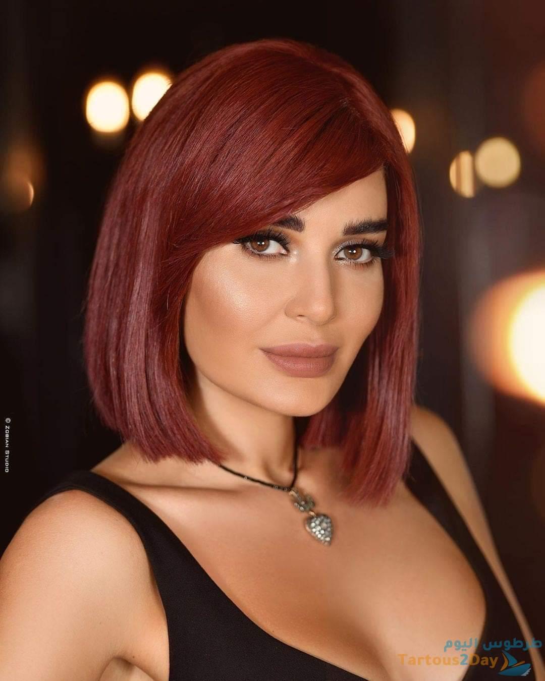 سيرين عبد النور بلوك جديد و شعر احمر... صور