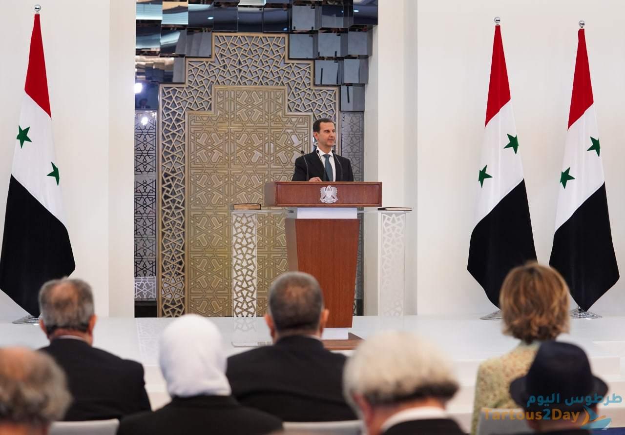 خلال كلمته بعد أداء القسم الدستوري .. الرئيس الأسد