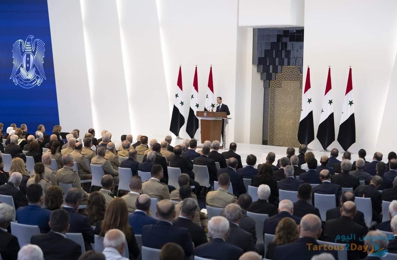 الرئيس بشار الأسد خلال خطاب القسم