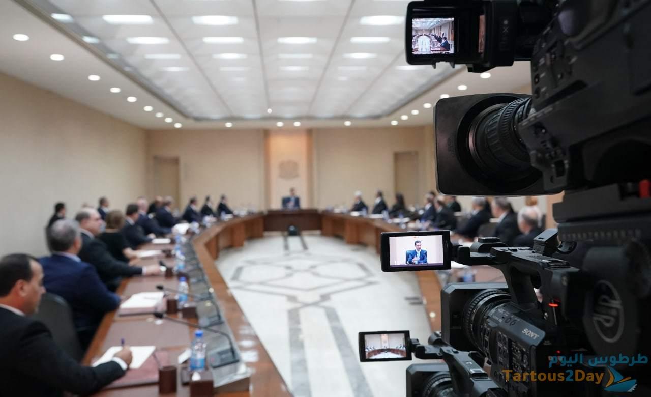 كلمة السيد الرئيس بشار الاسد امام الوزارة الجديدة