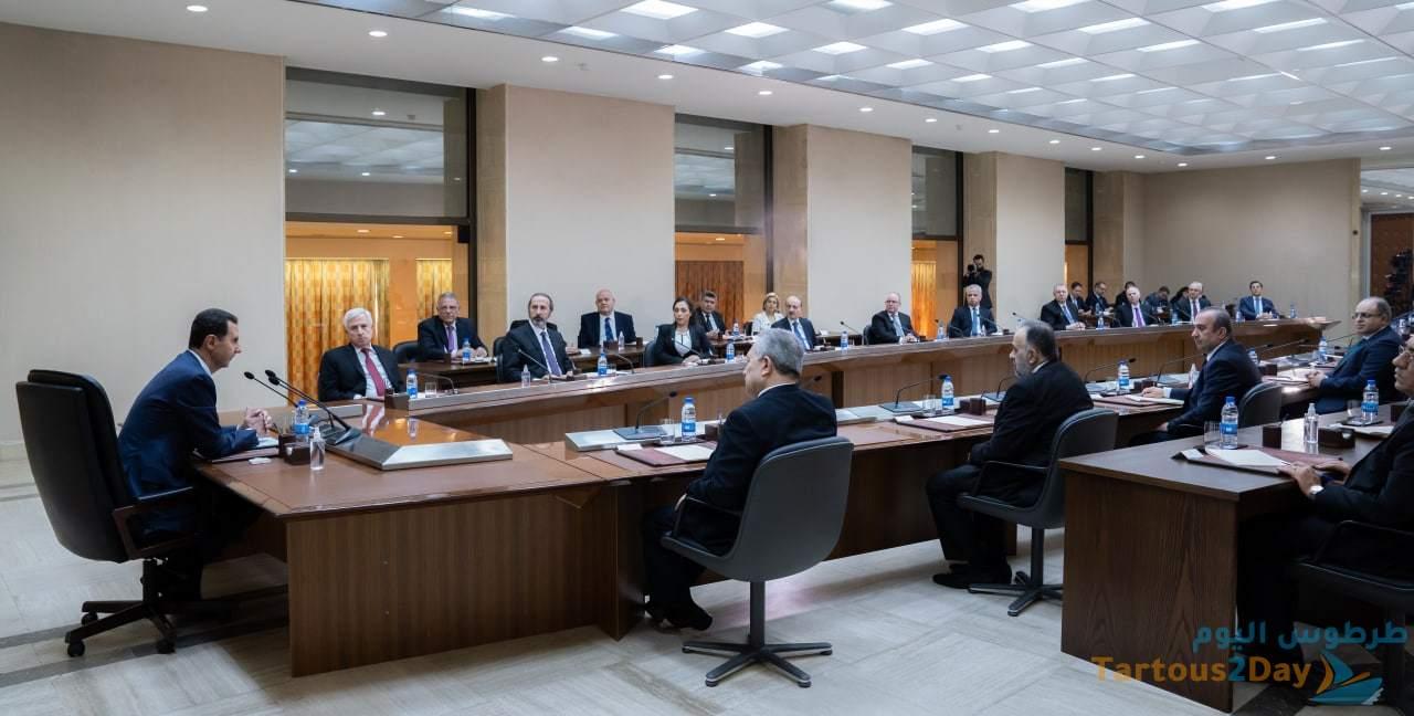 حول أهمية المشاركة والشفافية.. الرئيس الأسد في كلمته أمام الوزارة الجديدة: