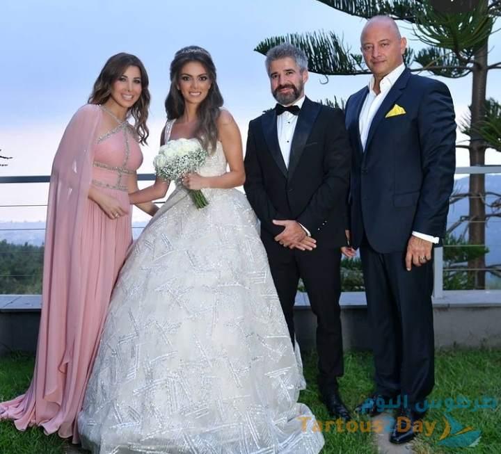 نانسي عجرم تتالق في حفل زفاف شقيقها نبيل